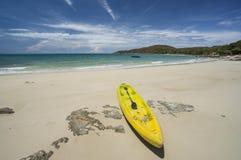 Yellow kayak. At Samed island,Thailand Stock Images