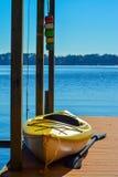 Yellow Kayak Stock Images
