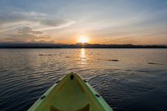 Yellow kayak Stock Photography
