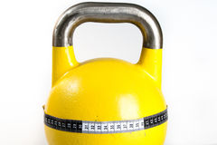 Yellow Kettlebell Stock Photos