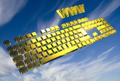 Yellow keyboard Stock Photos