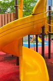 Yellow kiddie slide Royalty Free Stock Images