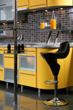 Yellow kitchen Stock Photos