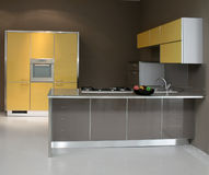 Yellow kitchen Royalty Free Stock Photography
