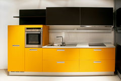 Yellow kitchen Royalty Free Stock Images