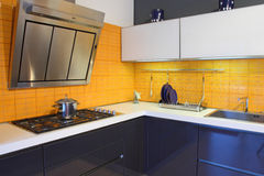 Yellow kitchen Royalty Free Stock Image