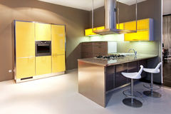Yellow kitchen Royalty Free Stock Photos