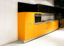 Yellow kitchen angle Stock Photography