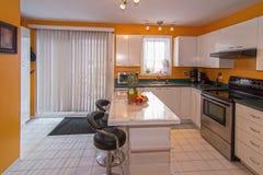 Yellow kitchen Stock Photo