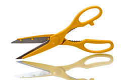 Yellow kitchen scissors Stock Photo