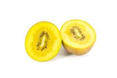 Yellow kiwi. Fruit isolated on white background Royalty Free Stock Images