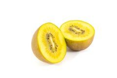 Yellow kiwi. Fruit isolated on white background Stock Images