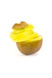 Yellow kiwi. Fruit isolated on white background Royalty Free Stock Photography
