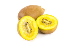 Yellow kiwi. Fruit isolated on white background Royalty Free Stock Photos