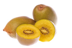Yellow Kiwi Fruits Macro Isolated Royalty Free Stock Image
