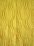 Yellow knitted abstract Stock Images