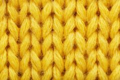 Yellow knitted fabric texture as background, stock photo