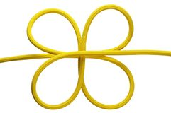 Yellow knot Royalty Free Stock Photo
