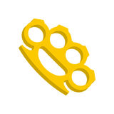 Yellow knuckles icon, flat style Stock Photo