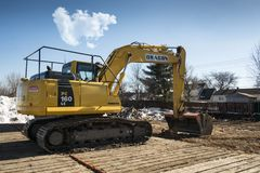 Komatsu Excavator in a Power Plan Stock Photo