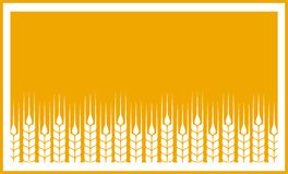 Yellow label with wheat ears Royalty Free Stock Photo