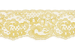 Yellow lace pattern Royalty Free Stock Photography