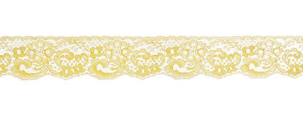 Yellow lace pattern Stock Photos