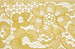 Yellow lace pattern background Royalty Free Stock Photos
