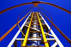 Yellow Ladder Royalty Free Stock Photography