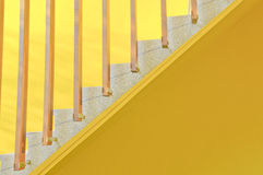 Yellow ladder background Stock Image
