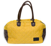 Yellow lady bag Royalty Free Stock Images