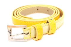 Yellow Lady Belt Royalty Free Stock Images
