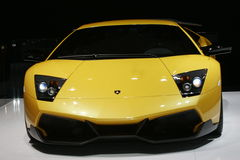 Yellow lamborghini Royalty Free Stock Image