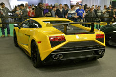 Yellow Lamborghini Gallardo Royalty Free Stock Images
