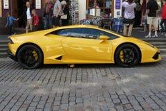 Yellow Lamborghini Gallardo Willimantic Stock Photography