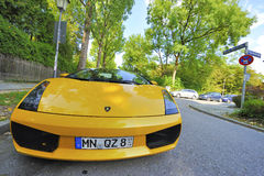 Yellow Lamborghini Stock Photography