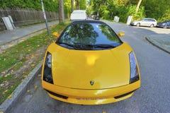 Yellow Lamborghini Stock Photography