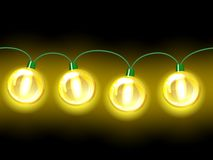 Yellow lamp festive garland. Seamless Royalty Free Stock Photos