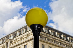 Yellow lamppost Stock Images