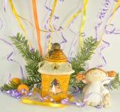 The yellow lantern Stock Image