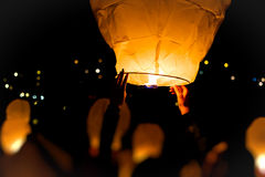 Yellow lantern Royalty Free Stock Photo