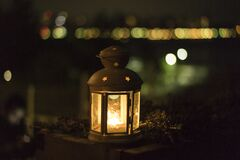 Yellow Lantern during Night Royalty Free Stock Images
