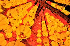 Yellow lanterns Royalty Free Stock Photo