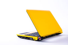 Yellow laptop Stock Photography