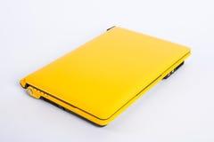 Yellow laptop Royalty Free Stock Photo