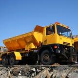 Yellow large truck Stock Photos