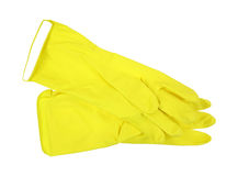 Yellow Latex Gloves Pair Royalty Free Stock Photo