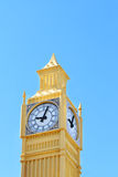 Yellow layout of Big Ben tower Royalty Free Stock Photography