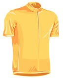 Yellow leader bicycle jersey. Used in tour de france by professional riders Royalty Free Stock Photography