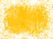 Yellow Leaf Border Royalty Free Stock Photography